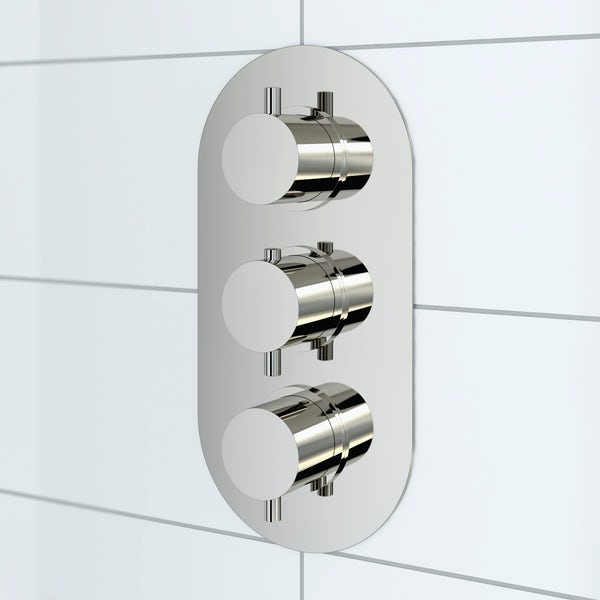 Mode Harrison oval triple thermostatic shower valve