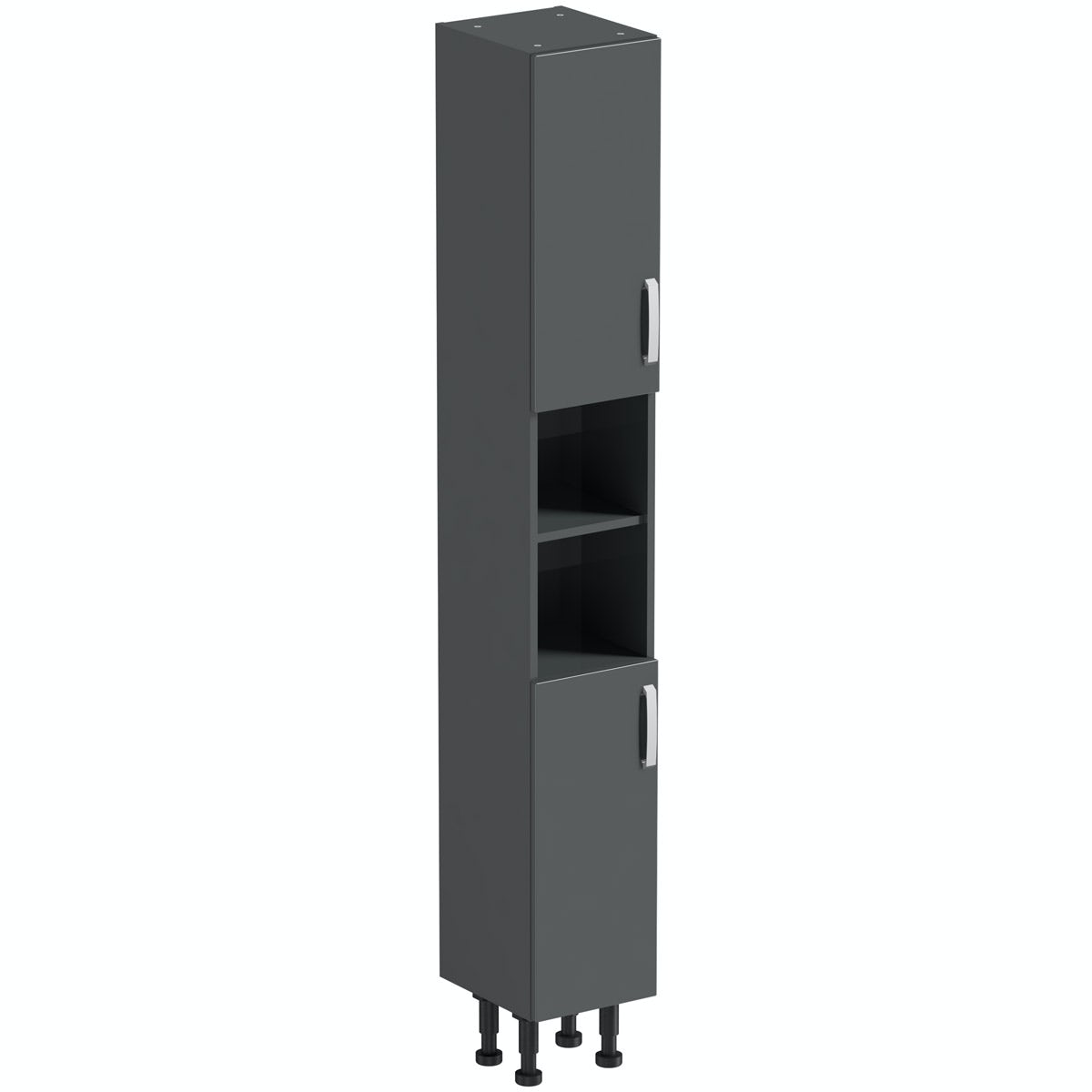 Mode Nouvel gloss grey tall cabinet