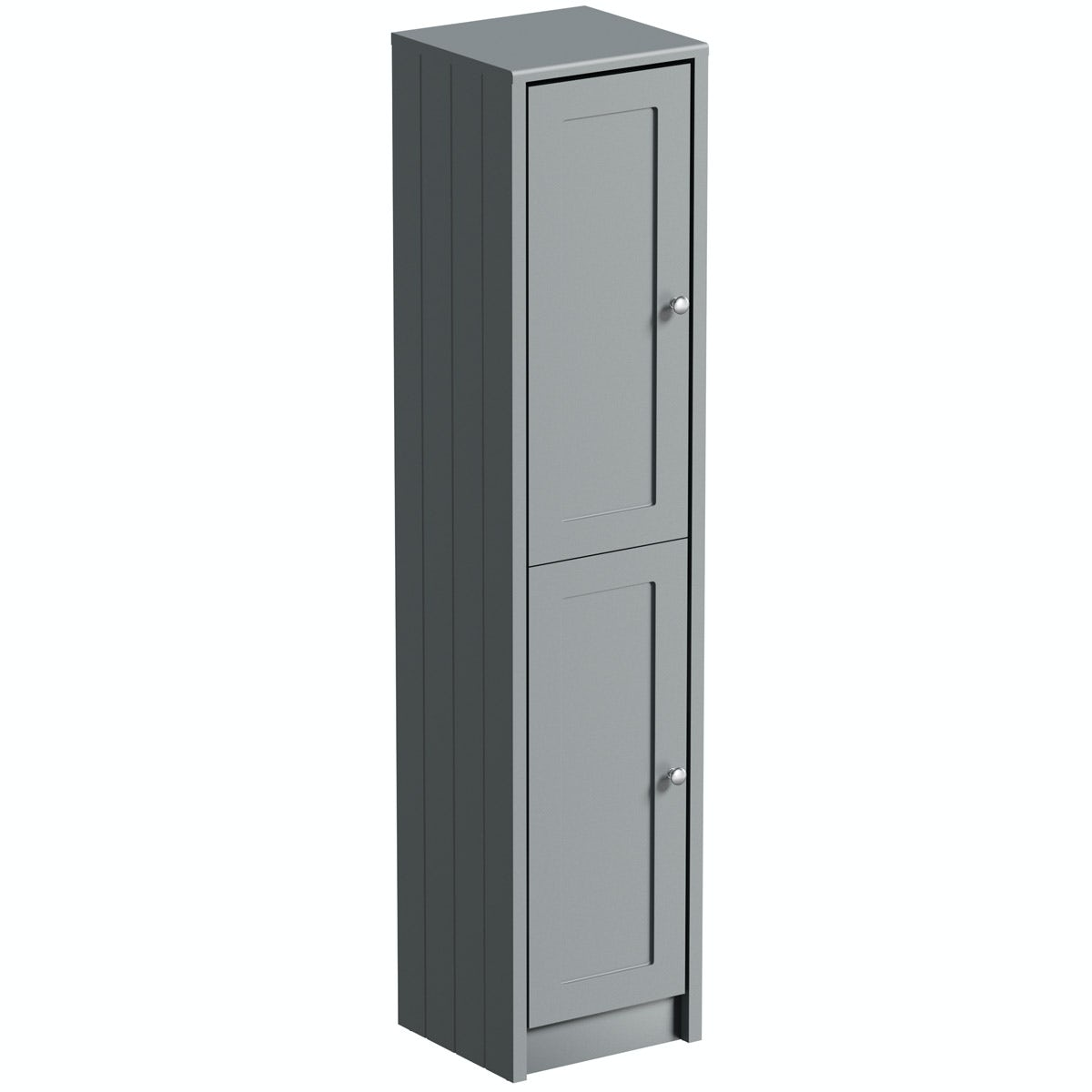 The Bath Co. Dulwich stone grey tall storage unit