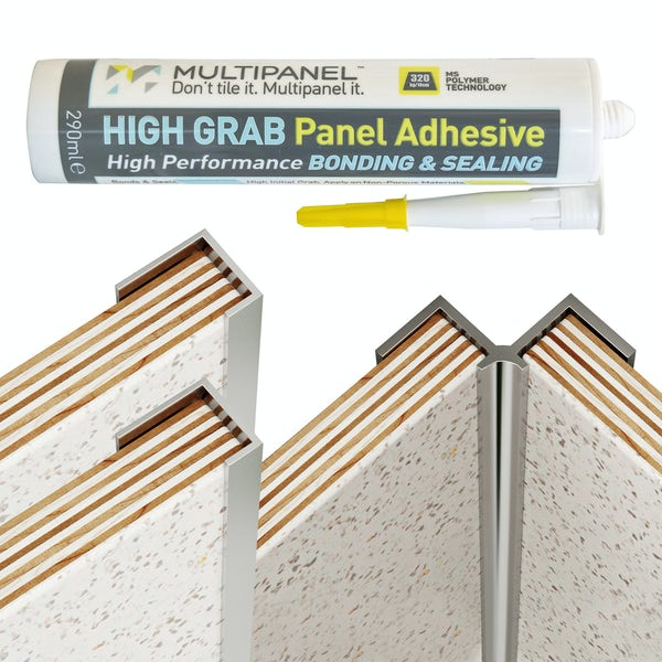 Multipanel Classic silver kit for corner installation