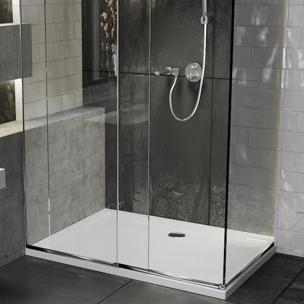 Orchard anti-slip rectangular stone shower tray
