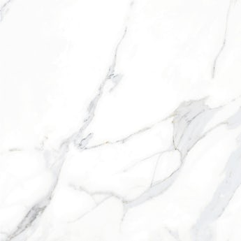 Storm white marble effect gloss wall and floor tile 600mm x 600mm
