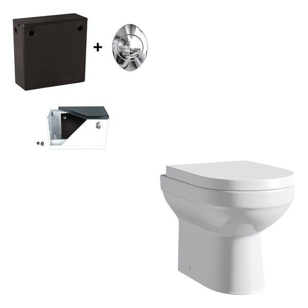 Orchard Balance back to wall toilet with concealed cistern and soft close seat