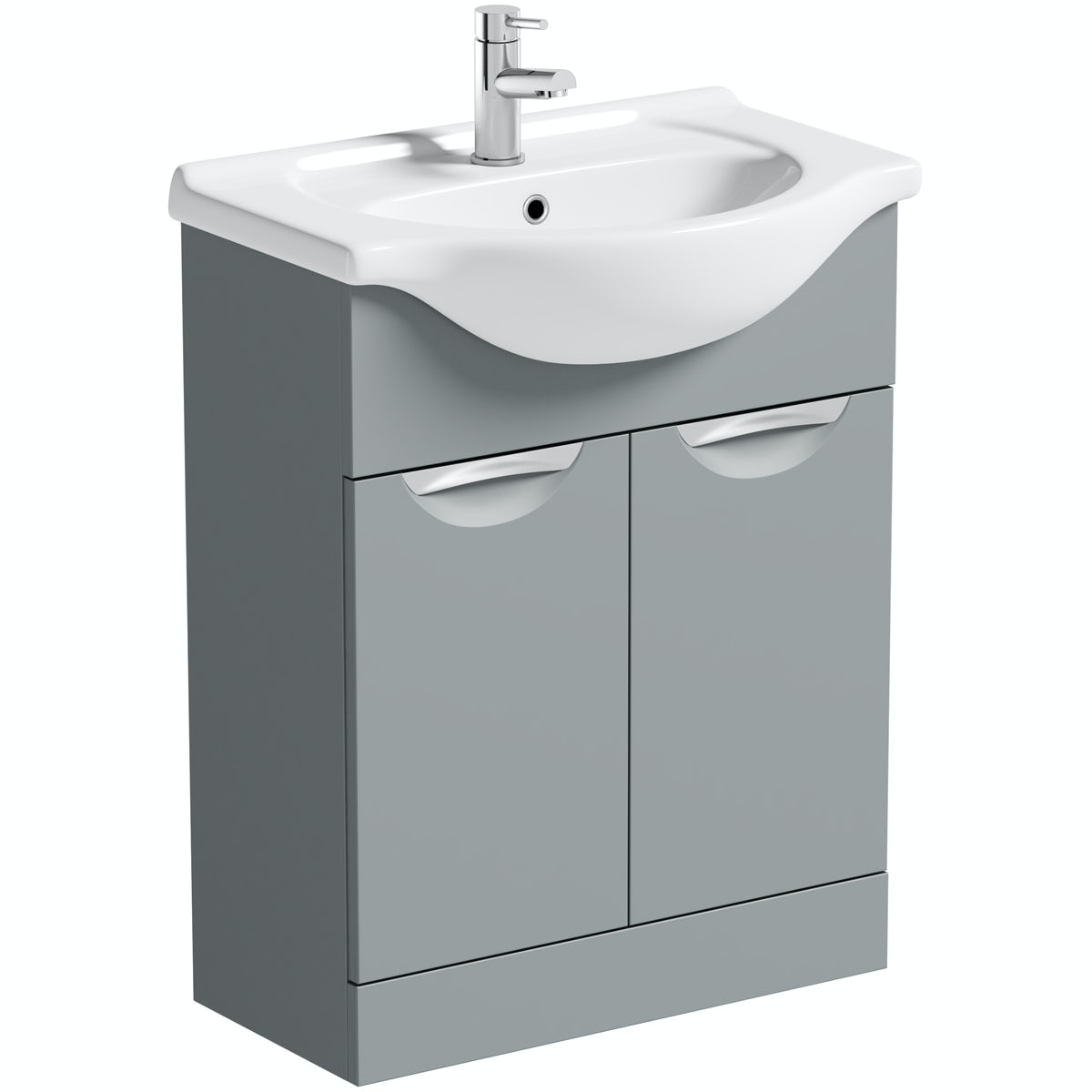 Orchard Elsdon stone grey vanity unit and basin 650mm