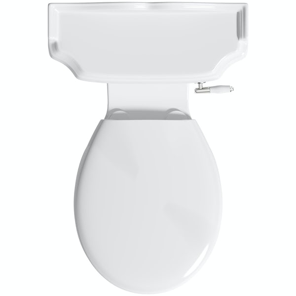 The Bath Co. Winchester close coupled toilet with Clarity universal thermoplast seat