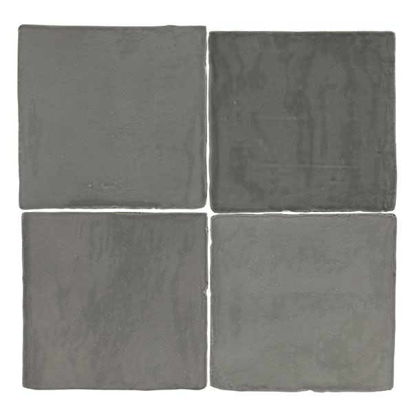 Marseille grey mix gloss wall tile 100mm x 100mm