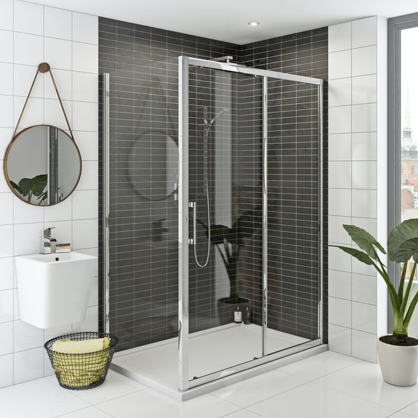Mode Hardy 8mm easy clean shower enclosure and stone shower tray with waste