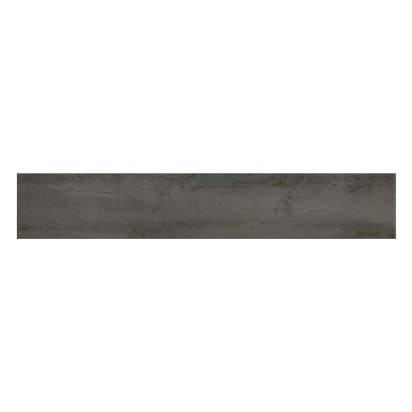 Carlton grey wood effect matt wall and floor tile 200mm x 1200mm
