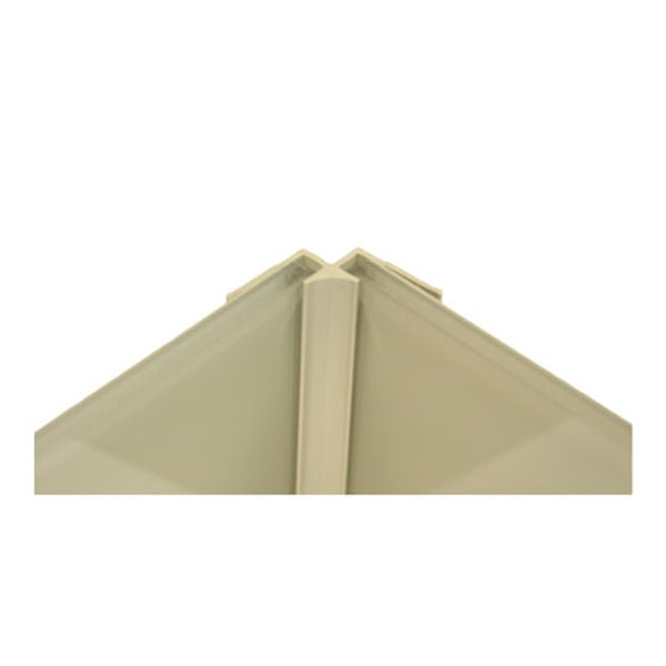 Zenolite plus matt stone colour matched internal corner joint 250mm