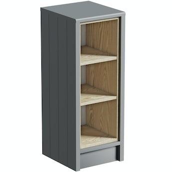 The Bath Co. Dulwich stone grey open storage unit 800 x 300mm