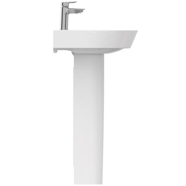 Ideal Standard Concept Air Arc 1 tap hole full pedestal basin 550mm
