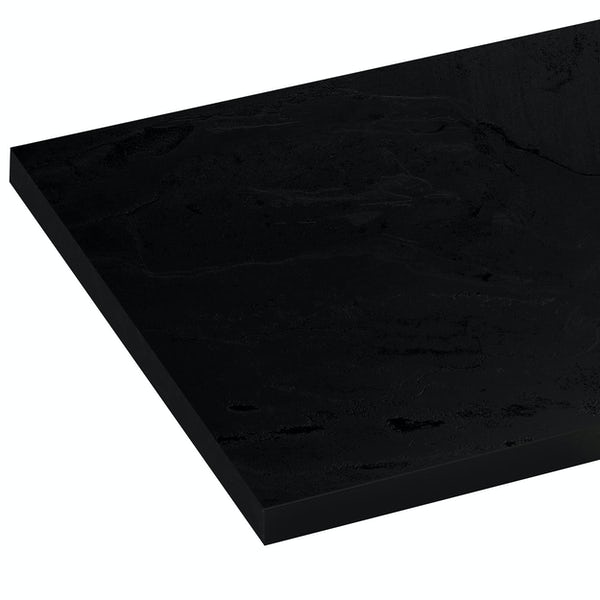 Reeves Newbury black slate compact laminate worktop 365 x 1500mm