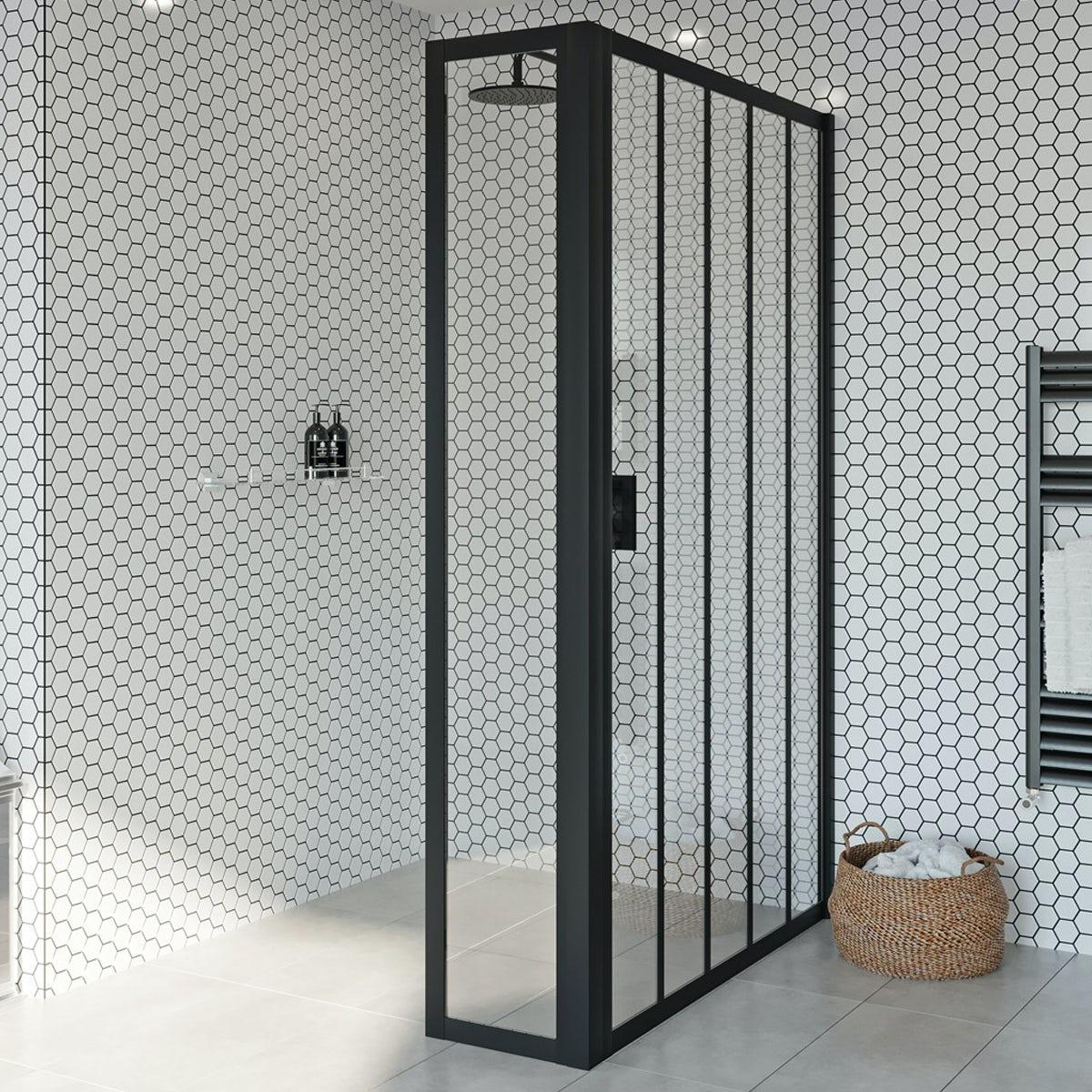 Spring Showers Bring Wet Basements: Jacuzzi Loft Black Framed Deflector Panel 360mm