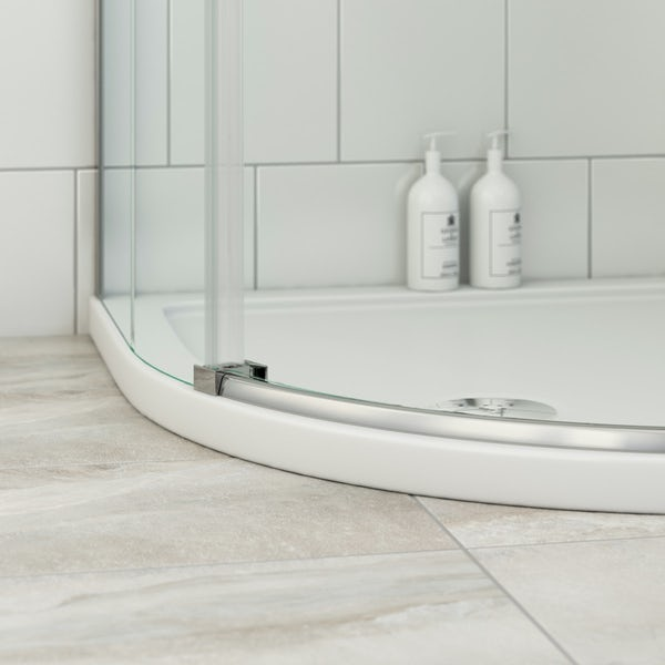 Mode Harrison 8mm right handed offset quadrant shower enclosure 900 x 760