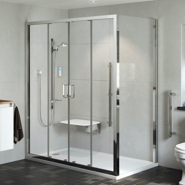 Mira Leap double sliding shower door 1700mm