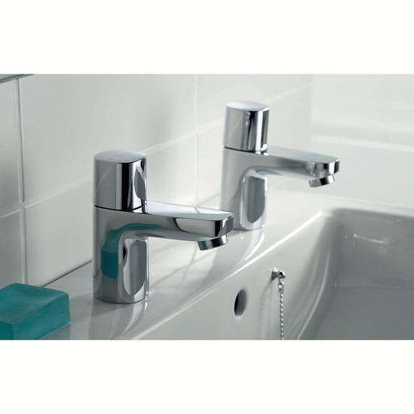 Ideal Standard Tempo basin pillar taps