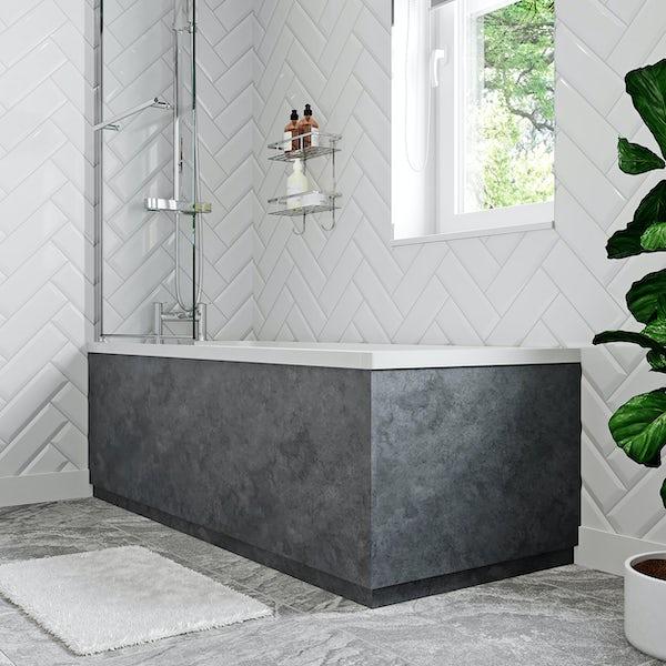 Orchard Kemp riven grey straight bath end panel 680mm