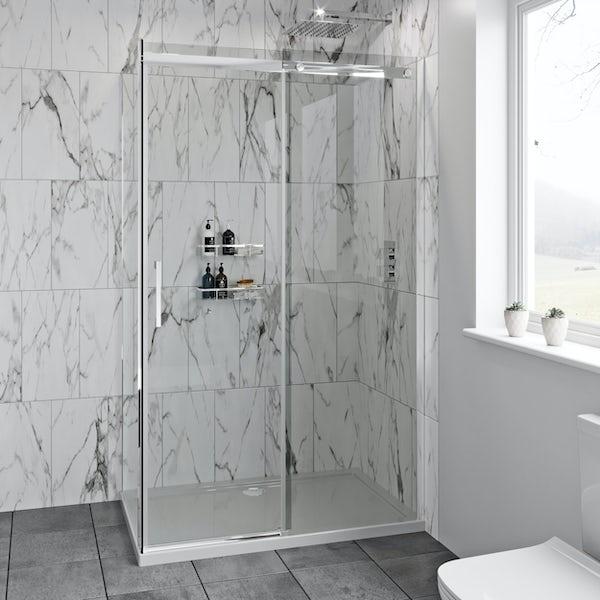 Mode Harrison 8mm easy clean rectangular sliding shower enclosure