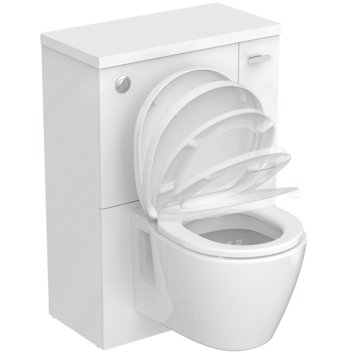Ideal Standard Concept Space white back to wall unit with toilet and soft close seat