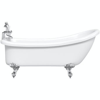 The Bath Co. Winchester roll top bath with ball and claw feet 1680 x 720