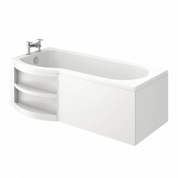 MySpace Eco Shower Bath LH with Storage Panel