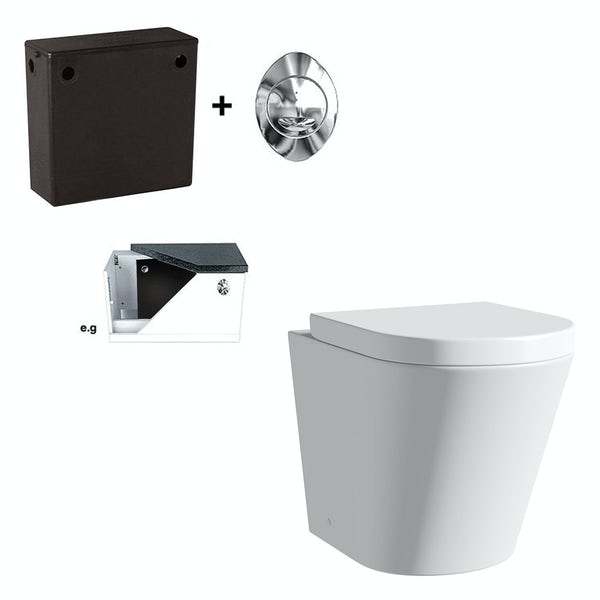 Orchard contemporary back to wall toilet with soft close seat and concealed cistern