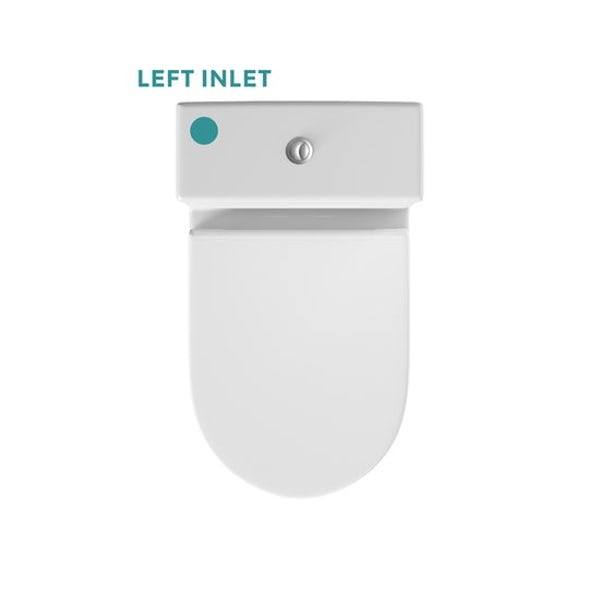 Orchard Dulwich close coupled toilet with soft close wooden toilet seat white