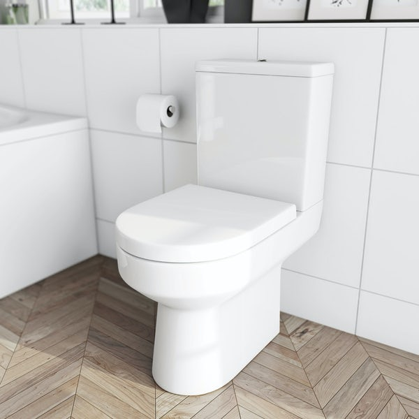 Orchard Wharfe bathroom suite with right handed L shaped shower bath 1700 x 850
