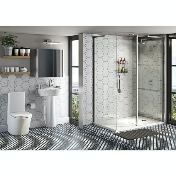 Mode Tate ensuite suite with enclosure and tray