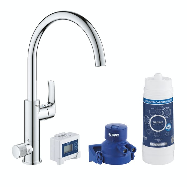 Grohe Blue Pure Eurosmart C spout kitchen tap starter kit