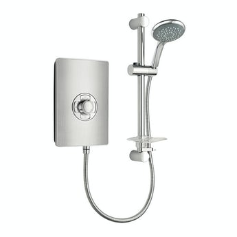 Triton Aspirante electric shower brushed steel