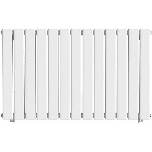 The Heating Co. Bonaire white double horizontal flat panel radiator