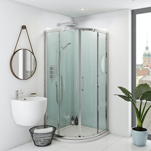Zenolite plus air acrylic shower wall panel corner installation pack 1000 x 1000