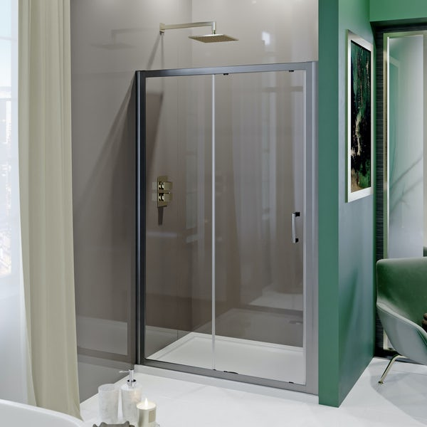 Showerwall Acrylic Mocha shower wall panel