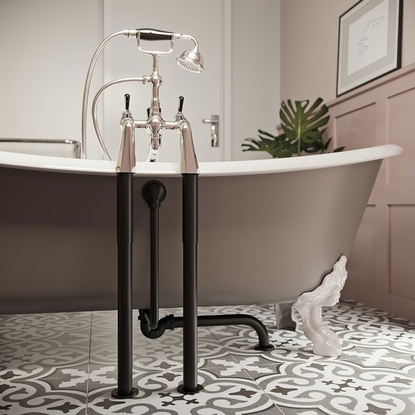 The Bath Co. Traditional roll top bath waste trap and standpipes pack
