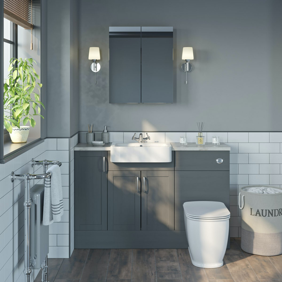 The Bath Co. Newbury Dusk Grey Small Fitted Furniture