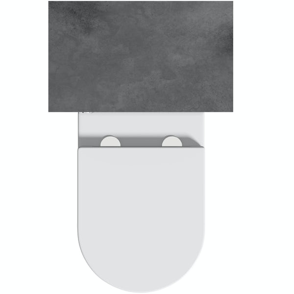 Orchard Kemp back to wall unit and Contemporary toilet with soft close seat