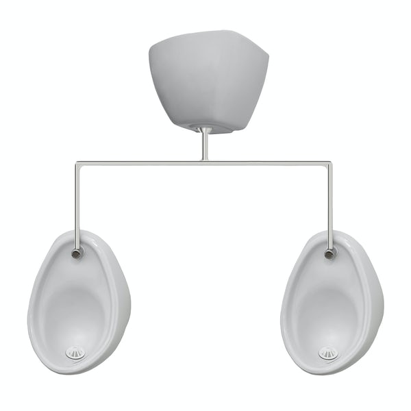 Kirke Curve complete top in exposed urinal 500mm pack for 2 bowls