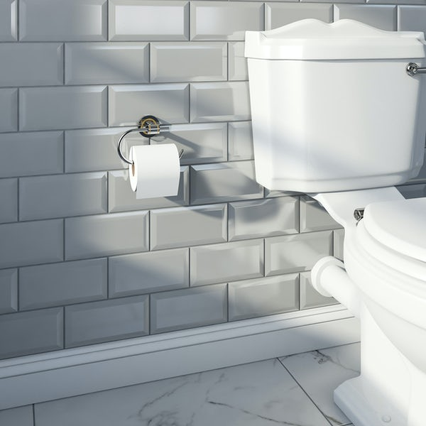 Accents premium traditional curved toilet roll holder