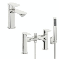 Main image for Orchard Wharfe basin and bath shower mixer tap pack