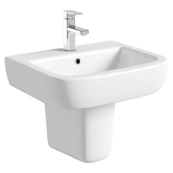 Mode Ellis 1 tap hole semi pedestal basin 560mm