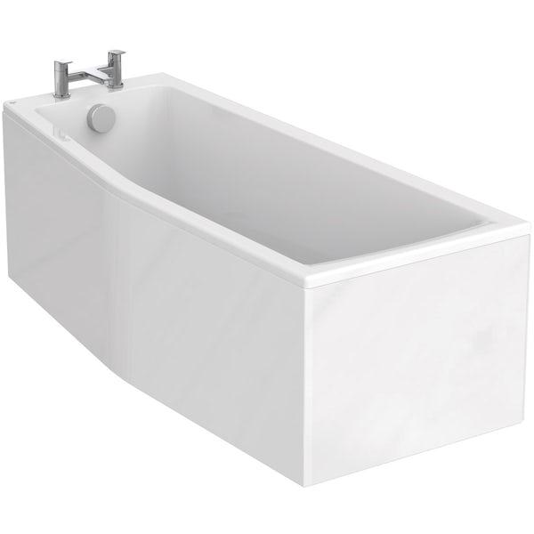 Ideal Standard Concept Space white complete left hand shower bath suite 1700 x 700
