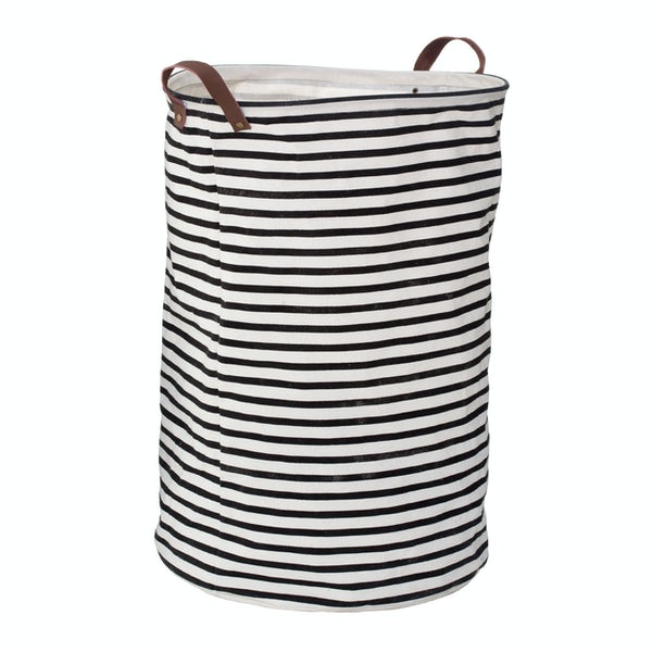 Stripe laundry hamper