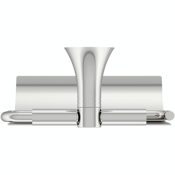 Accents round contemporary toilet roll holder with cover