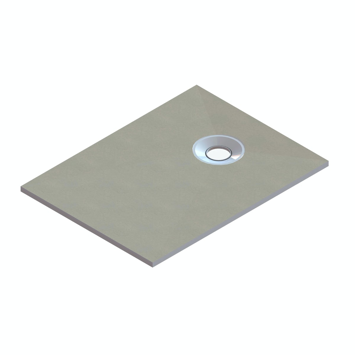 Orchard rectangular wet room tray former with end waste position 1200 x 900