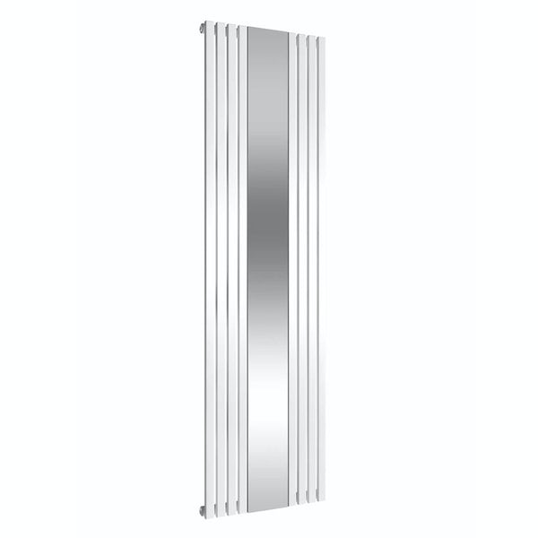 Reina Reflect white steel designer radiator 1800 x 445mm