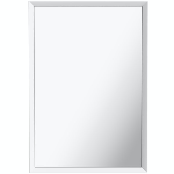 Mode Larsen white gloss mirror 800 x 550mm