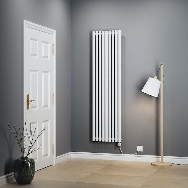 Terma Rolo Room E white electric radiator with MOA Blue element - white