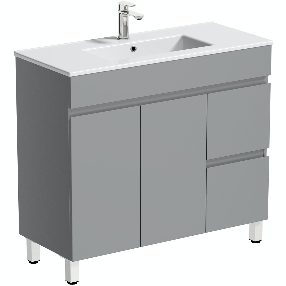 Orchard Thames Satin Grey Floorstanding Vanity Unit And