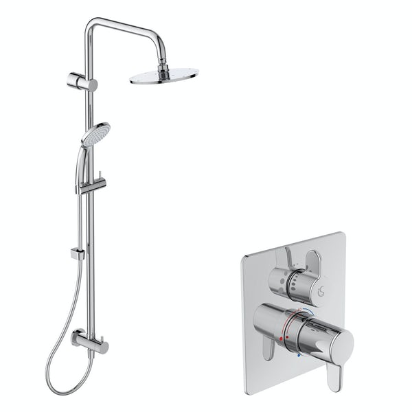 Ideal Standard Concept Freedom round concealed thermostatic mixer shower